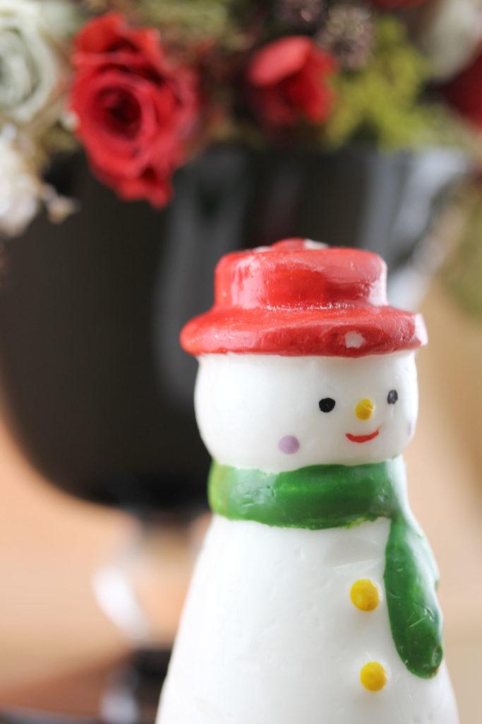 雪だるまのキャンドル