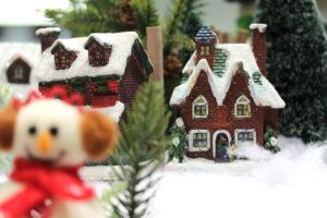 雪だるまとお家