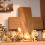 北欧の木で出来た動物の置物 1