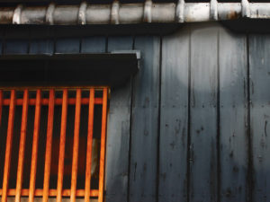 京都 町屋の壁