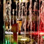 ライトアップされた噴水 3