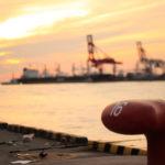大阪港 埠頭の夕日 2