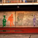 大阪港 埠頭 壁の落書き