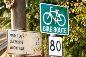 自転車の看板