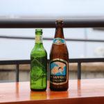 港のテラス ビール瓶