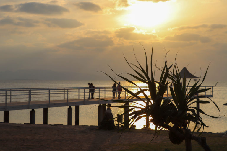 石垣島 夕暮れのフサキビーチ