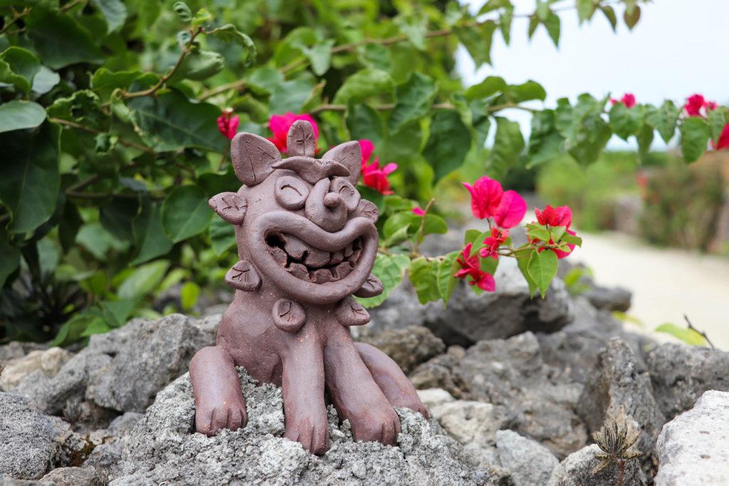 沖縄 竹富島のシーサー