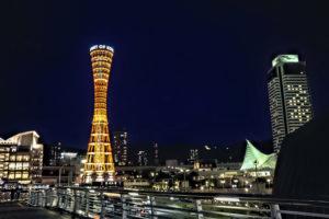 神戸ポートタワーのライトアップ