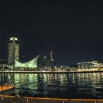 神戸港の夜景 ポートタワー&メリケンパーク