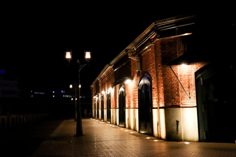 ハーバーランド 夜の神戸煉瓦倉庫