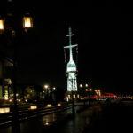 旧新港第五突堤信号所のライトアップ