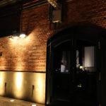 ハーバーランド 夜の神戸煉瓦倉庫 ドアと壁