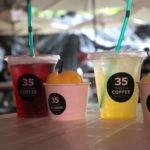 カンガラーの谷 鍾乳洞の洞窟カフェ ジュースとアイス