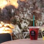 カンガラーの谷 鍾乳洞の洞窟カフェのジュース
