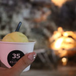 カンガラーの谷 鍾乳洞の洞窟カフェのアイスクリーム