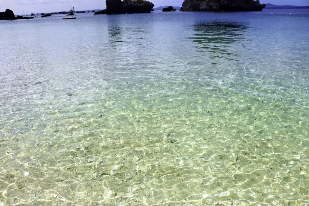 南国の透明の海