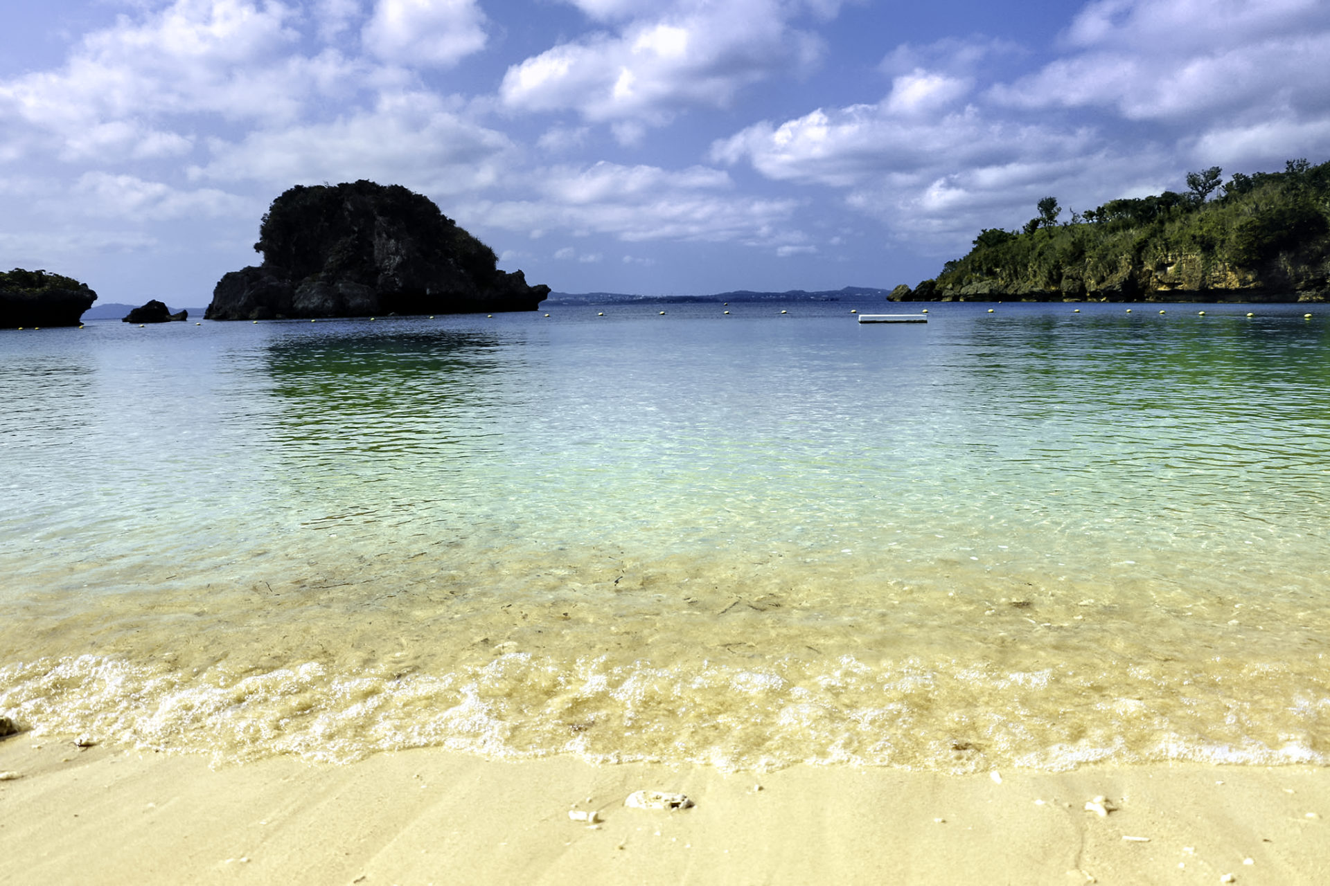 南国の海 砂浜
