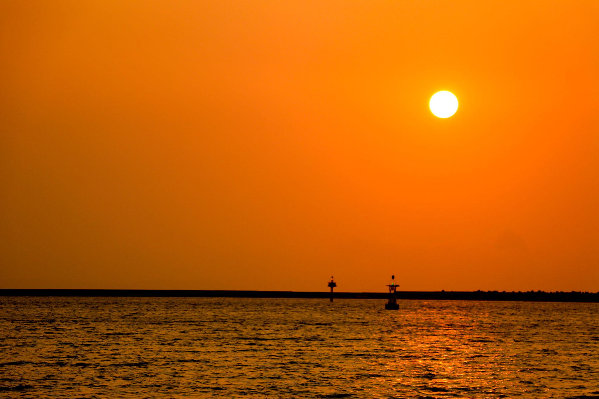 沖縄の夕日 – フリー(無料)写真素材 ダウンロード blue-green