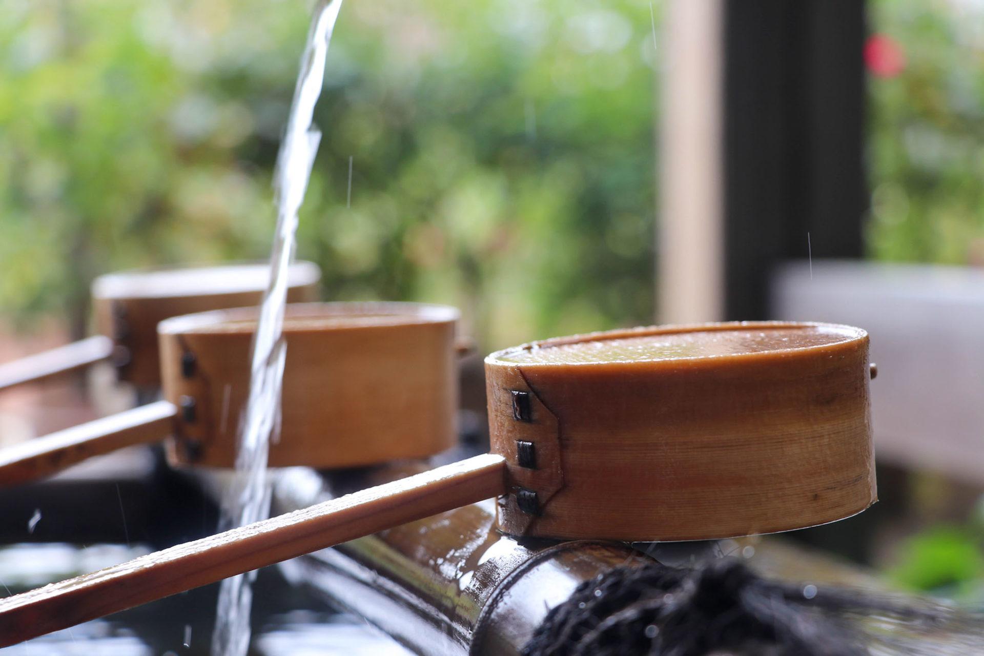 奈良 おふさ観音 手水舎