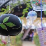 奈良おふさ観音風鈴祭り 黒い風鈴