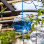 奈良おふさ観音風鈴祭り 青い風鈴