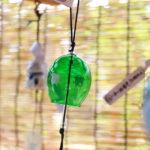 奈良おふさ観音風鈴祭り グリーンの風鈴