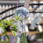 奈良おふさ観音風鈴祭り 紫陽花柄の風鈴