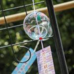 奈良おふさ観音風鈴まつり 下から見上げた風鈴