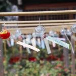 奈良おふさ観音風鈴祭り 風になびくたくさんの風鈴