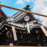 奈良おふさ観音風鈴まつり 青い空と透明の風鈴