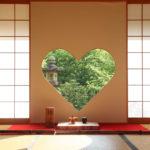京都正寿院 ハート 猪目窓 1
