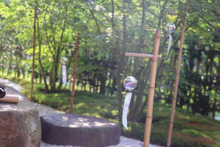 京都 宇治 正寿院 庭の風鈴