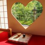 京都正寿院 ハート 猪目窓 6