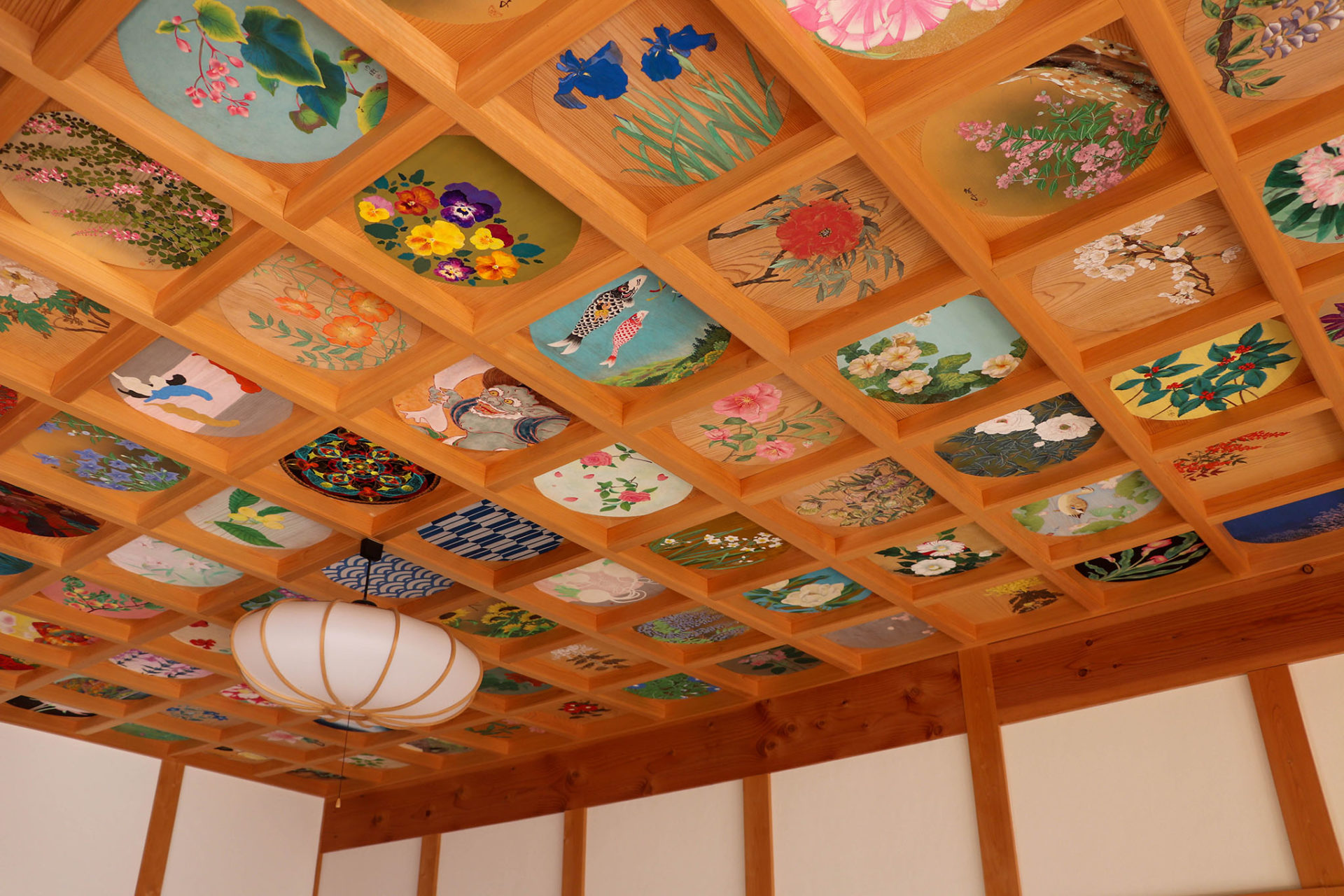 京都 宇治 正寿院の天井絵