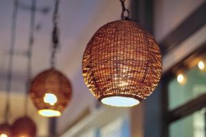 カフェのランプ