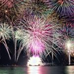 夜空を埋め尽くすカラフルな花火