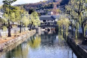 倉敷美観地区 柳と川