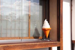 倉敷美観地区 ソフトクリーム