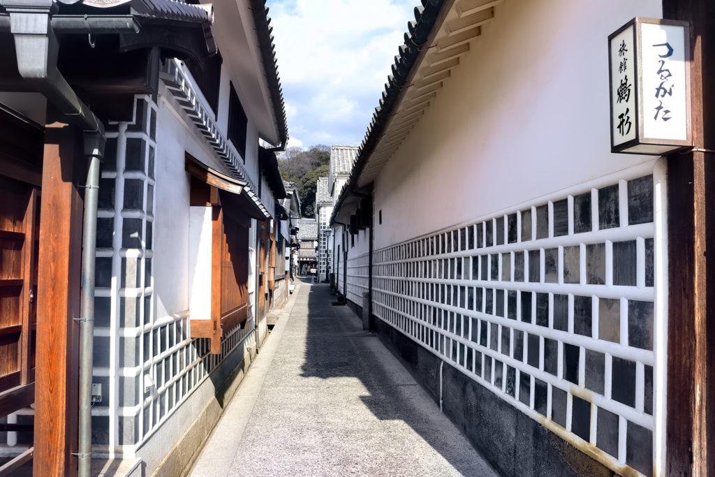 倉敷美観地区 なまこ壁の建物