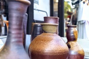 倉敷美観地区 備前焼の壺