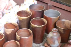 倉敷美観地区 備前焼のカップ