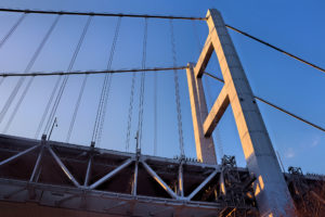 瀬戸大橋を真下からみた光景