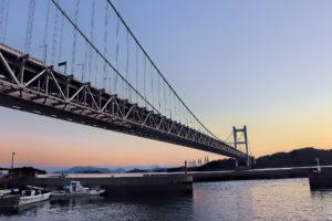 マジックアワーの瀬戸大橋