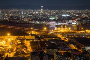 コスモタワー展望台から見た大阪の夜景