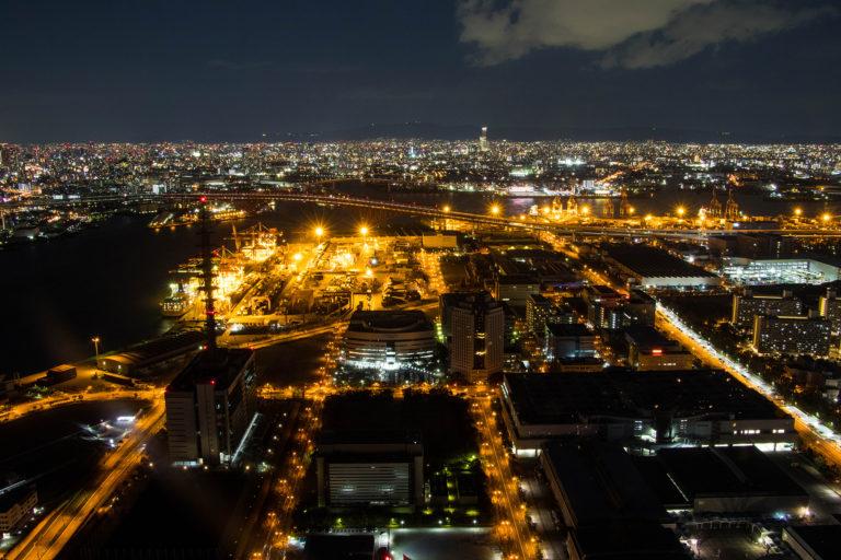 大阪咲洲庁舎展望台から大阪を一望
