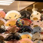 扇子を売っている京都の土産物屋店