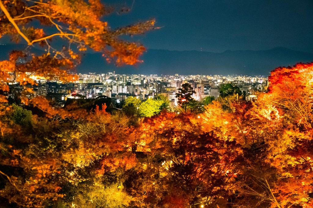 清水寺から京都の街を望む