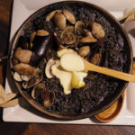 スペイン料理 イカスミのパエリア