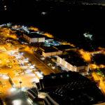 コスモタワー展望台から見下ろした夜の港