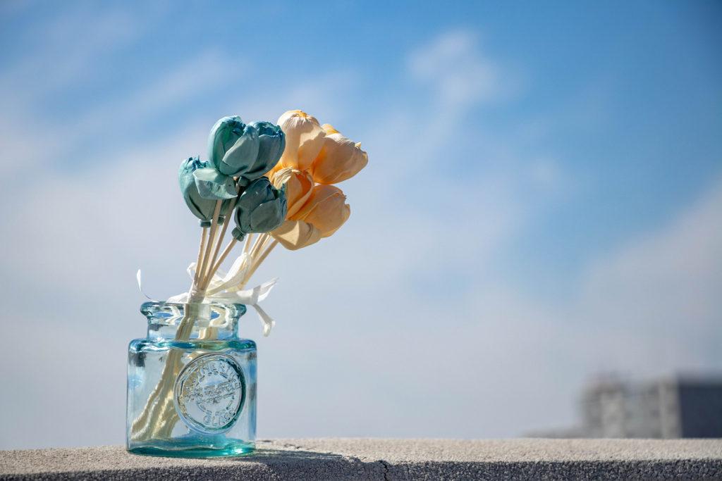 青空とお花